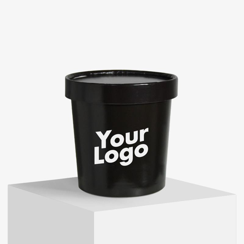 Logo trykte isbægre med låg