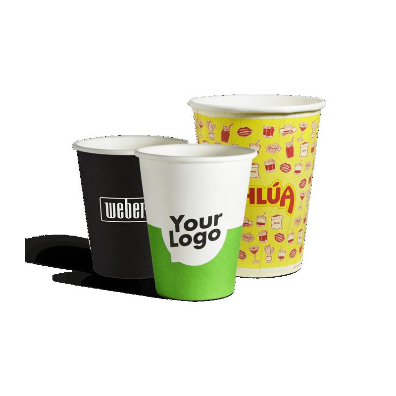 To go enkeltlags papkrus med dit logo tryk