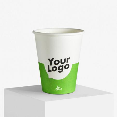 Enkeltlags pappkrus med dit logo trykk