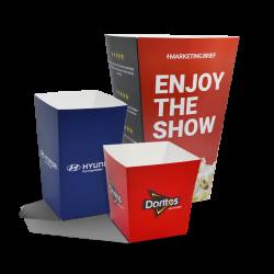 Popcornbægre med logo
