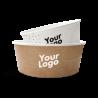 Papir madskåle med logo tryk