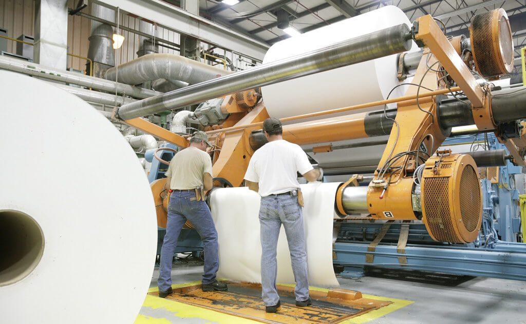 pulp to paper rolls